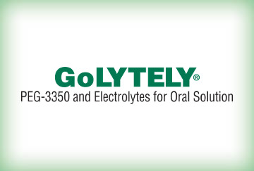 GoLytely, PEG-3350 and electrolytes for oral solution.